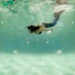 reportaje infantil bajo el agua