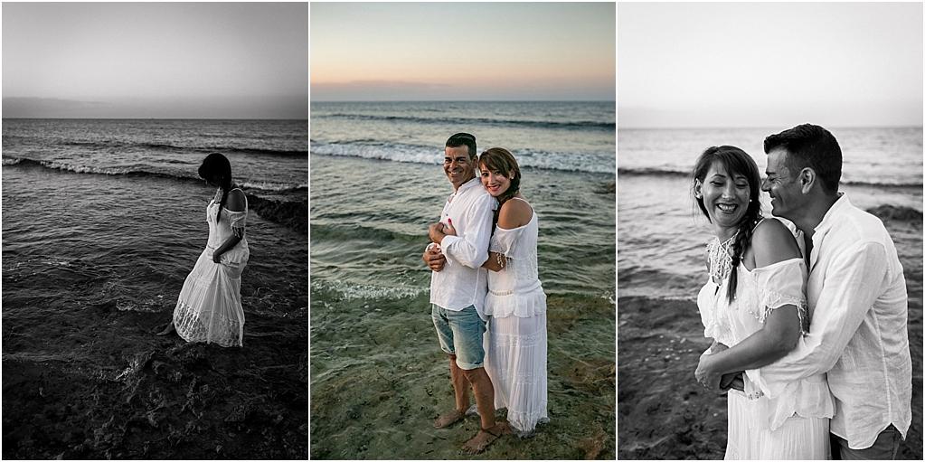 sesión fotos pareja en la playa
