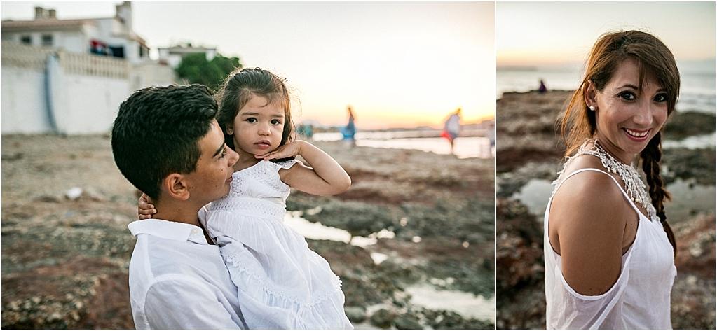 reportaje fotos familia playa