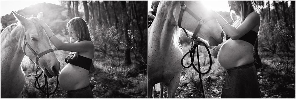 reportaje de embarazo con caballo