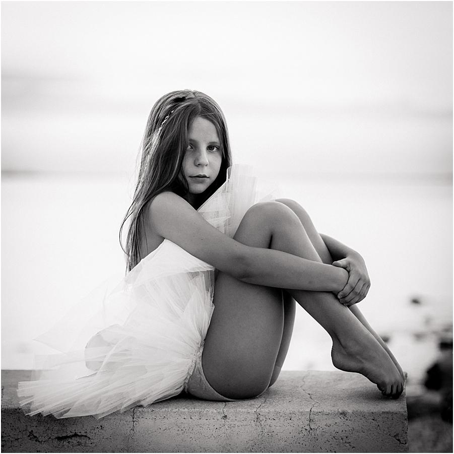 retrato niña ballet