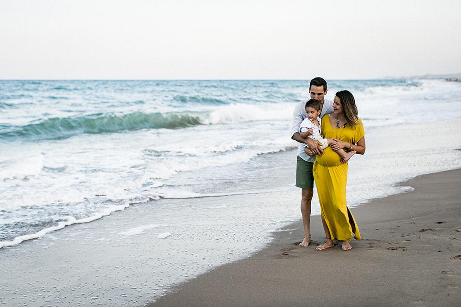 sesión embarazo playa valencia