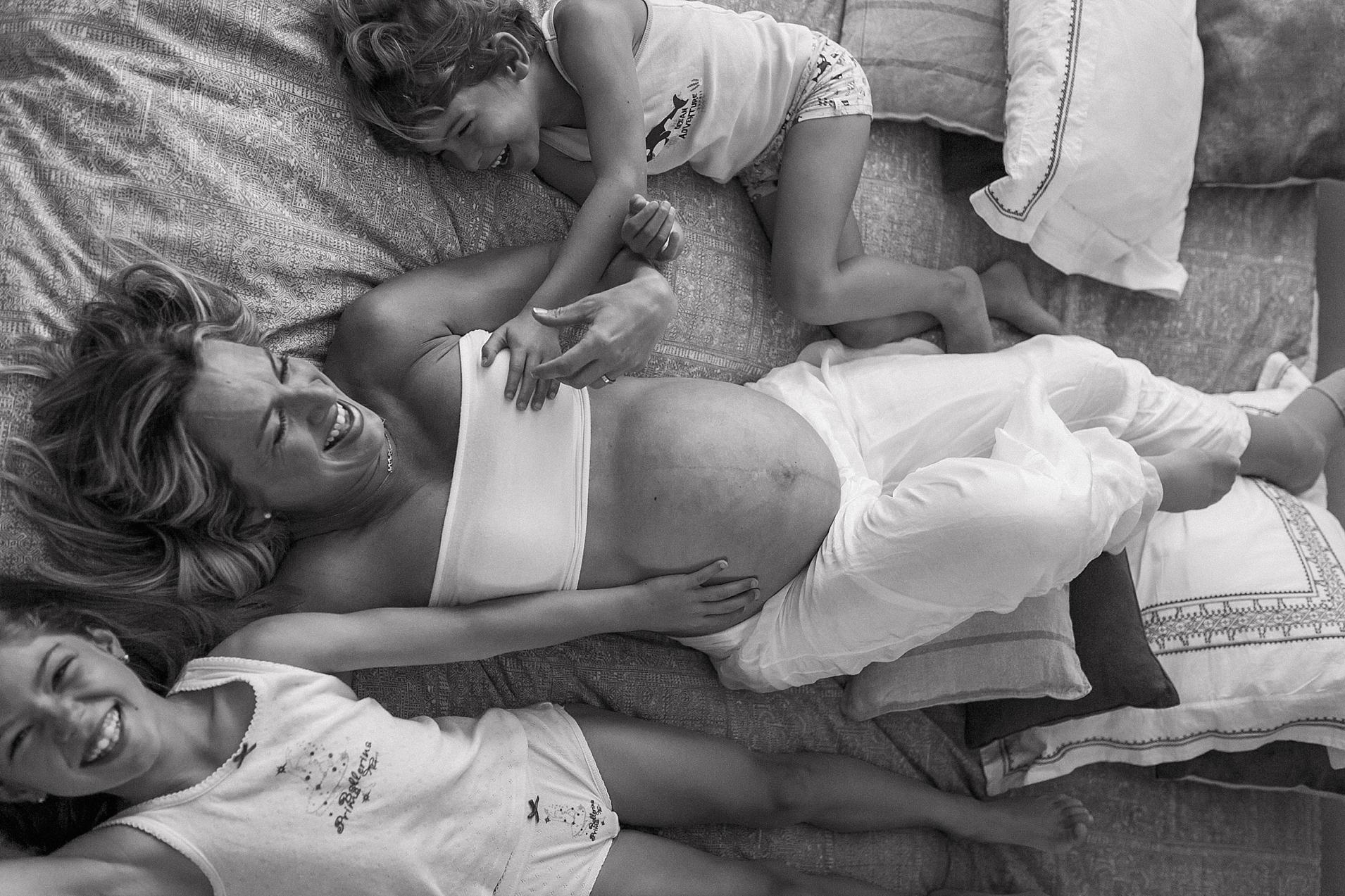 reportaje embarazo en casa
