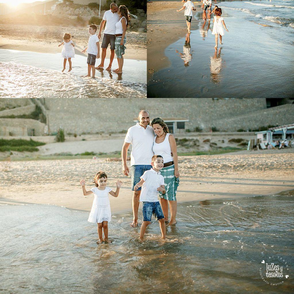 foto familia verano valencia alicante reportaje familiar en la playa de valencia