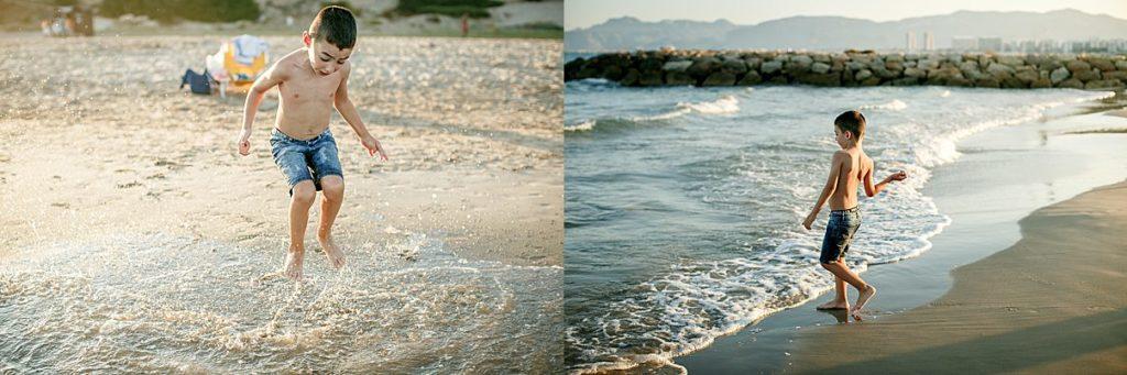 fotografia niños playa valencia