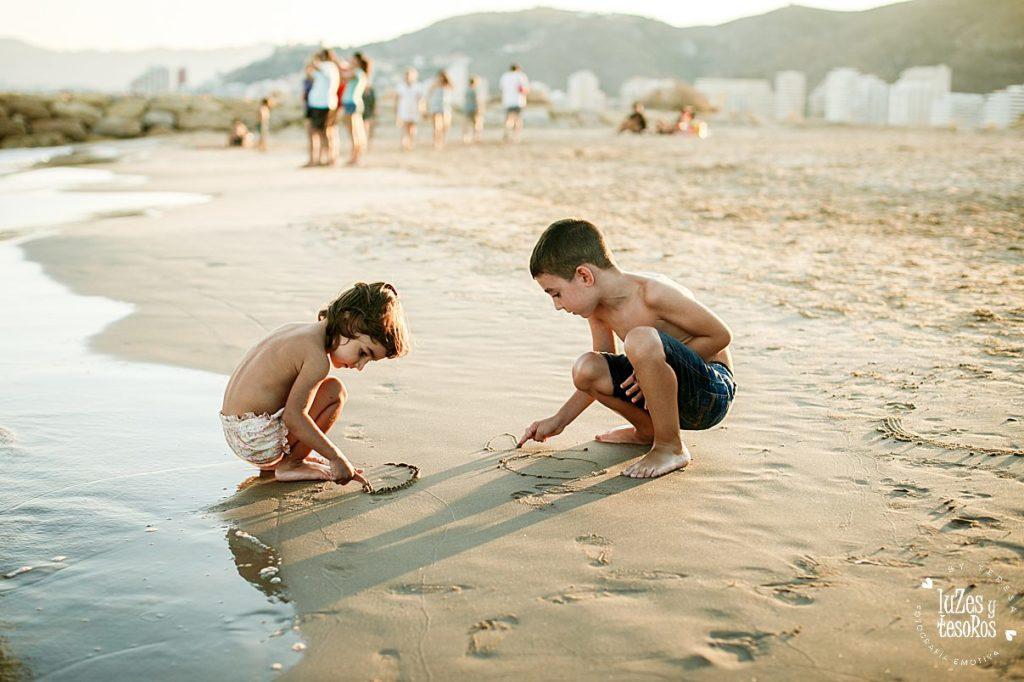 fotografia familiar en verano valencia