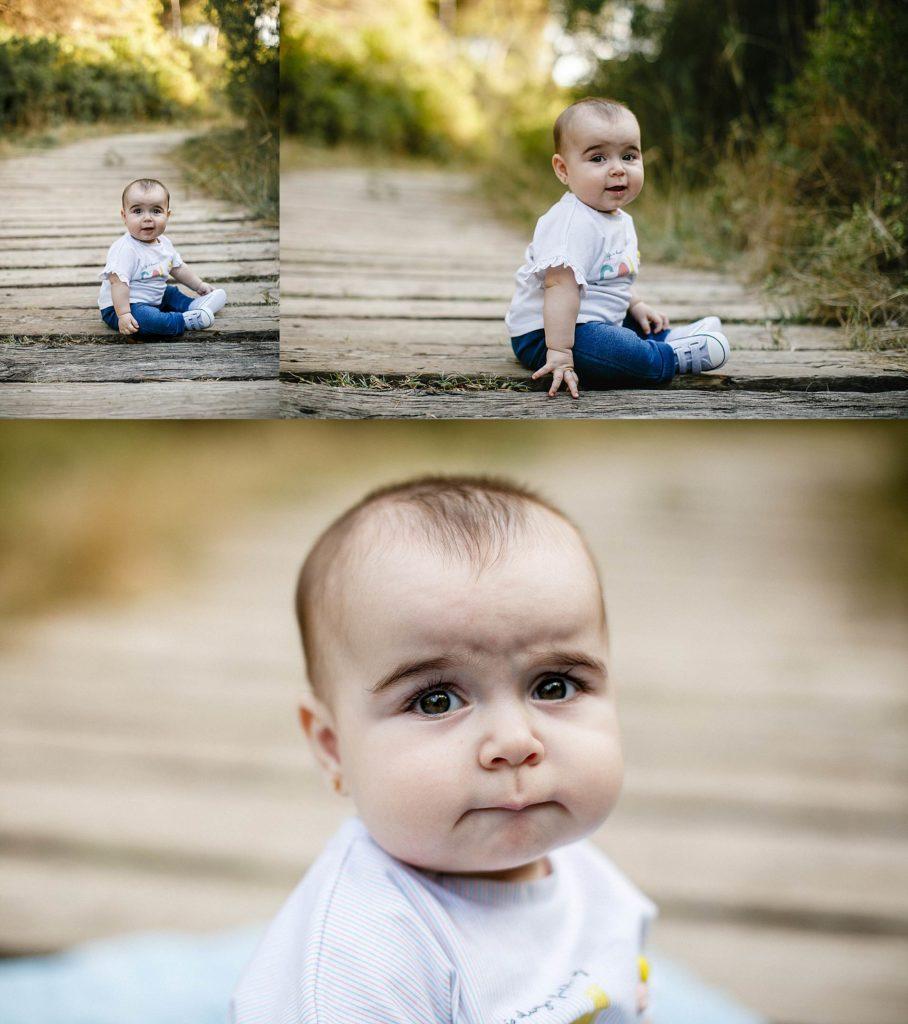 sesión con tu bebé en exteriores, fotografía familiar