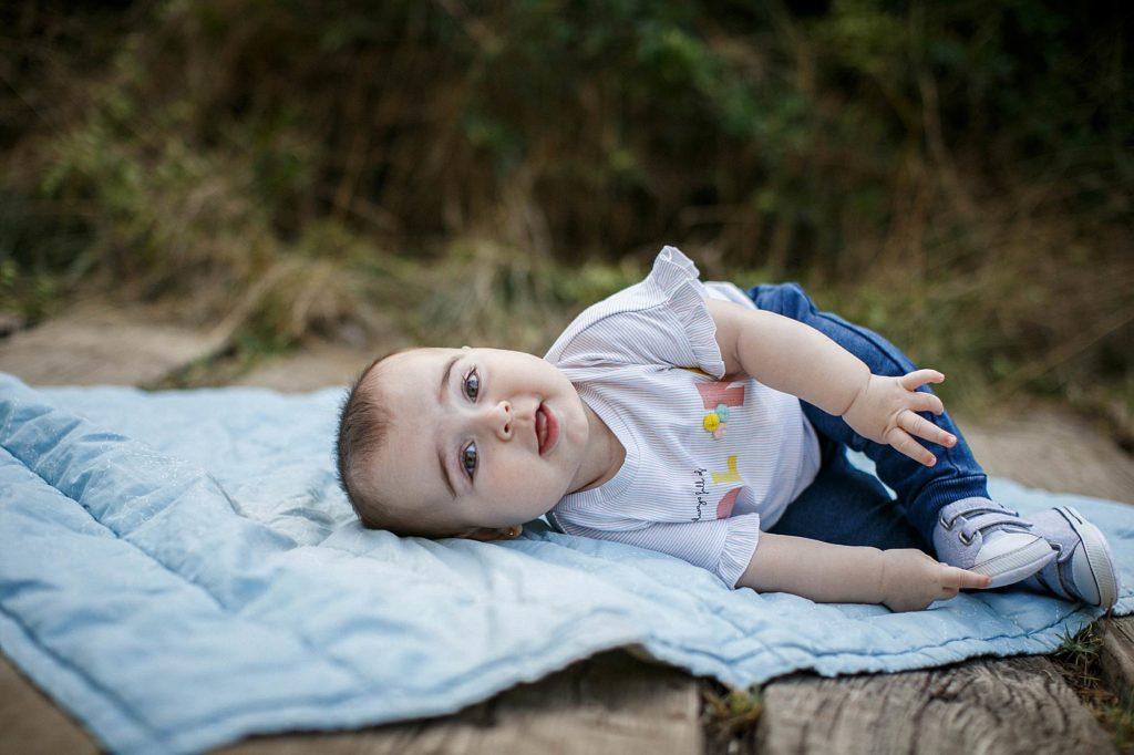 sesión con tu bebé en exteriores