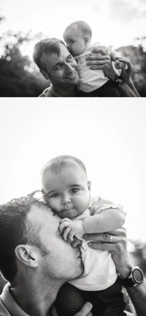 papa y bebe, fotografia en blanco y negro