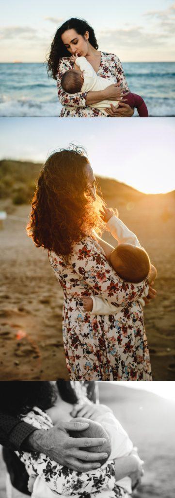 bebe y mama, sesión de fotos en exterior