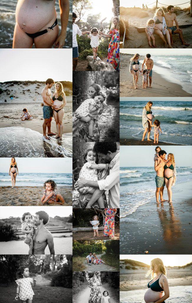 reportaje embarazo en la playa de valencia
