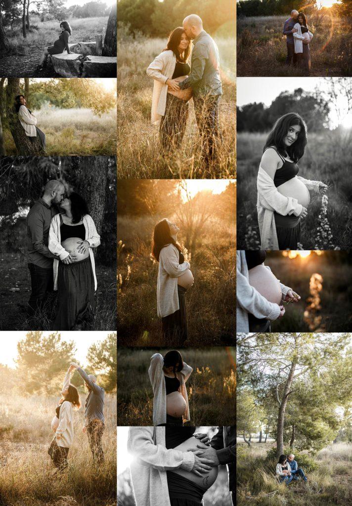 fotografia de embarazo en otoño en valencia