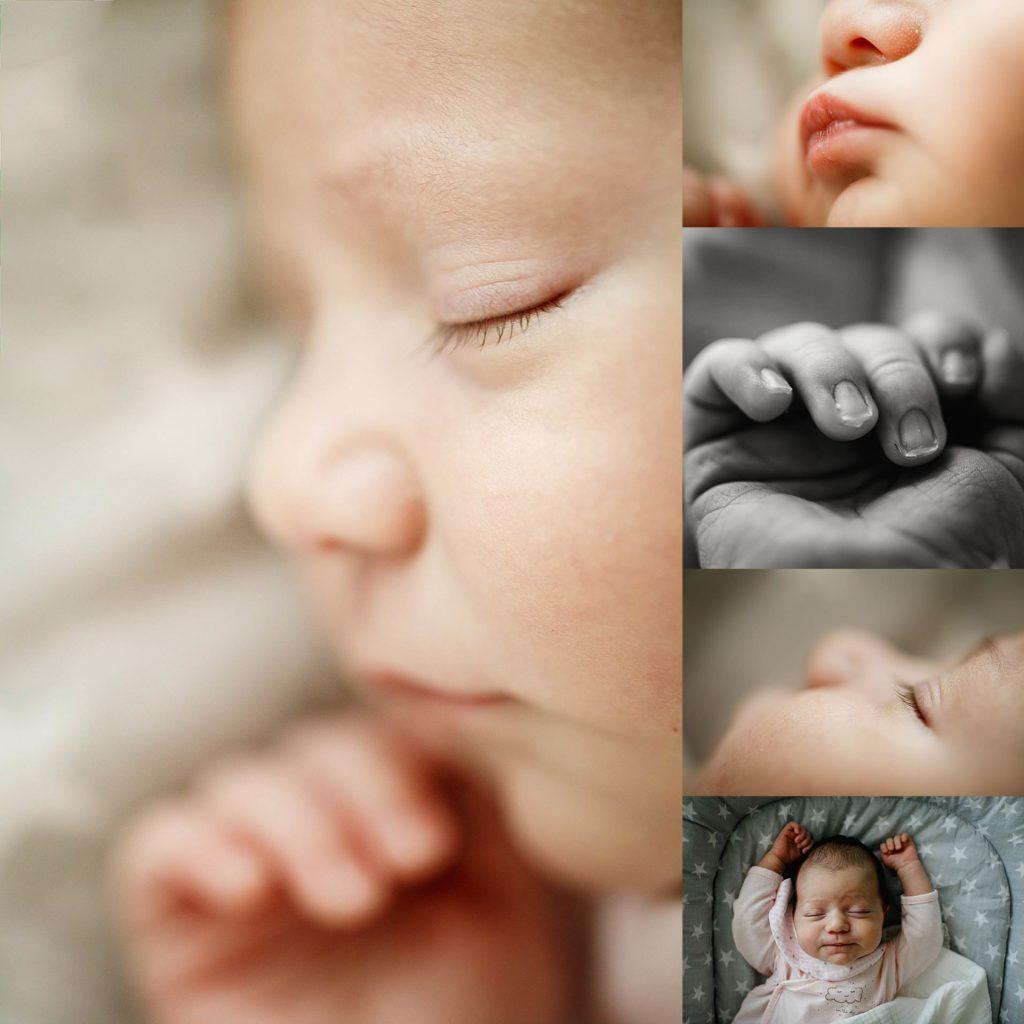 sesión de recién nacido en casa