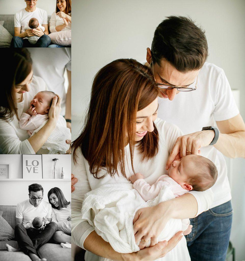 reportaje de recién nacido natural en casa